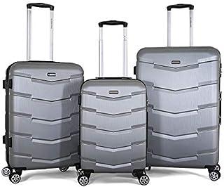 Giordano Luggage Trolley Bags for Unisex - Silver