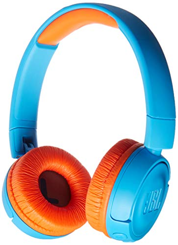 JBL JR 300BT - On-Ear Wireless Headphones for Kids - Blue/Orange