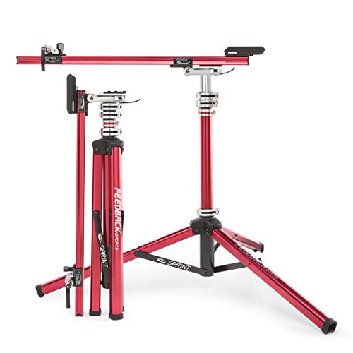 Feedback Sports Sprint Stand Pied d'atelier Unisex-Adult, Rouge, uni