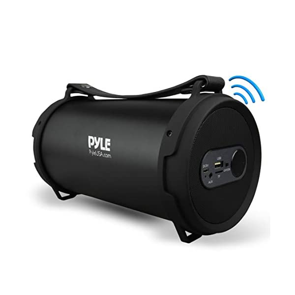 Portable Speaker, Boombox, Bluetooth Speakers, Rechargeable Battery, Surround Sound, Digital Sound Amplifier, USB/SD/FM Radio, Wireless Hi-Fi Active Stereo Speaker System in Black (PBMSPG7) 3