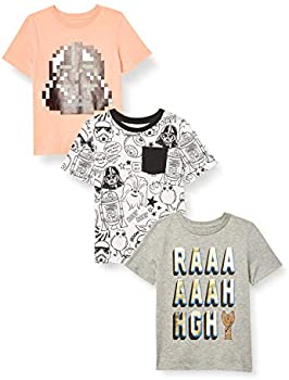 3-Pack Amazon Brand Spotted Zebra Boys' Star Wars T-Shirts
