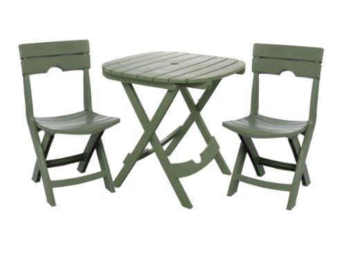 Adams Manufacturing 8590-01-3731 Quik-Fold Cafe Bistro Set, ...