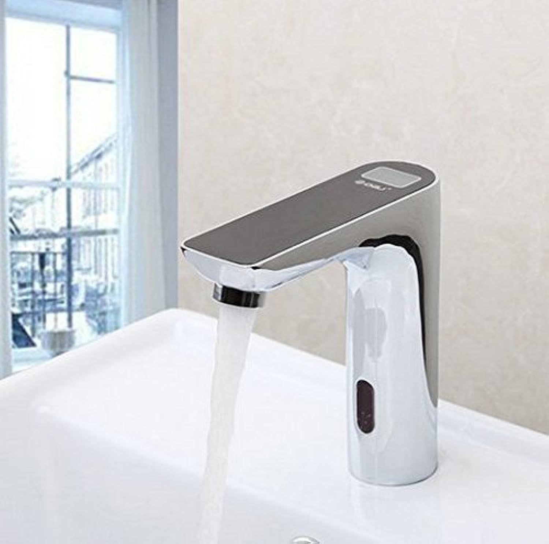 Gowe schwarz Sensor Armaturen Torneira Digital Display Badezimmer Waschbecken Chrom Messing Waschbecken, Wasserhhne, Armaturen Wasserhhne