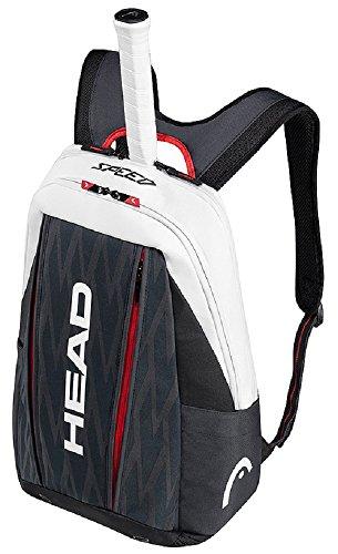 Head Djokovic Backpack Bolsa de Tenis, Unisex Adulto, Negro/Blanco, Talla Única