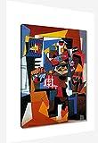 La jaula para pájaros de Pablo Picasso Cuadro Decoración Pared Cuadros Para Dormitorios Modernos Lienzo Cuadros Decorativos Decoracion de Salones Listo para colgar (20x30cm8x12inch, enmarcado)