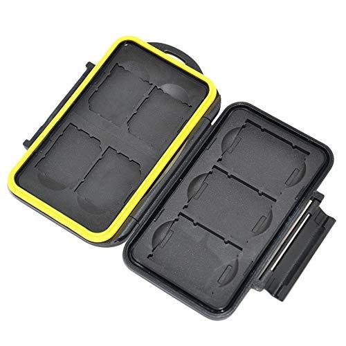 JJC Multi Memory Card Case MC-XQDSD7 Speicherkarten Schutzbox für 3 Stück XQD und 4 Stück SDHC Cards- extreme Wasserdicht und Stoßfest Box Safe Tasche Etui Aufbewahrungsbox Hülle