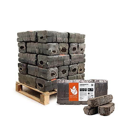 Torfbriketts Ruf Bio Braunkohle Torf Gluthalter Dauerbrenner Kamin Ofen Brenn Holz Heiz Kohle Brikett 10kg x 30 Gebinde 300kg / 1 Palette Paligo