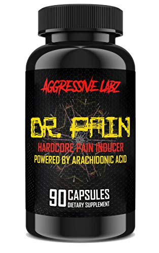 Aggressive Labz Dr.Pain - Arachidonic Acid - Muscle and Strength Enhancer 90 Capsules - Build Muscle, Get Stronger, Gainz