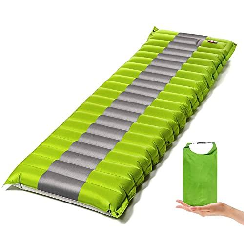 JIXIN Almohadilla para Dormir Inflable De Grosor Extra para Tienda De Campaña, Colchón Impermeable para Dormir, Cómoda Colchoneta De Aire Compacta