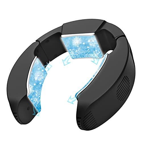 ネッククーラー 冷却プレート 「2021年6月1日新発売」 首冷却プレート 首掛けエアコン USB給電 サイズ調整可 ハンズフリー 携帯クーラー 熱中症対策 暑さ対策 現場 外仕事 [公式]ネッククーラーPro 冷感 父の日 プレゼント (ブラック)