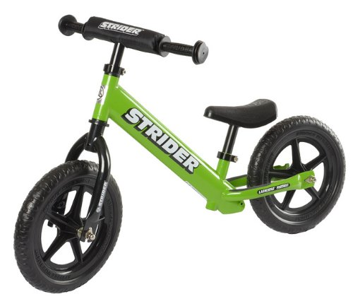 Strider ST-4 No-Pedal Balance Bike, For 18 mos.- 5 years, Green