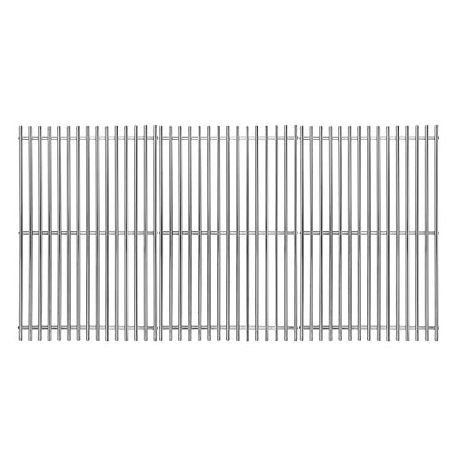 Hisencn 17 inch Grill Cooking Grates Replacement Parts for Homedepot Nexgrill 720-0896B 720-0896 720-0896E 720-0896C 720-0896CP 720-0898 720-0898A, Stainless Steel Solid Rod Grill Cooking Grid, 3 pack