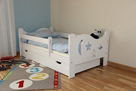 Kinderbett Jugendbett Juniorbett Massivholz mit Matratze 160x80cm (weiss) - 2