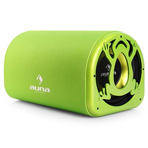 """auna CB250-10A aktiver Auto-Subwoofer Car HiFi Subwoofer (600 Watt max, 10\"""" Tieftöner, Bassboost) grün"""