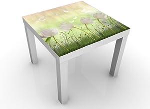 INDIGOS UG Diseño de la Mesa de No, CG85 Flor Blanca Field 55 x 45 x 55 cm, Weißer Tisch, Normal
