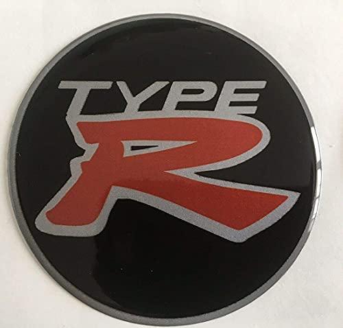 4 Tapas Centrales De Rueda, Tapacubos, CalcomaníA Con Emblema De Tapa Central De Rueda De AleacióN, Para Civic Type R 55mm