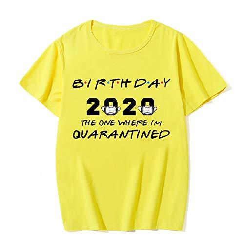 Xiongtai Camicia da Compleanno Quarantine 2020 Camicia da Quarantena Donna Compleanno Fun Friends Top a Maniche Corte.