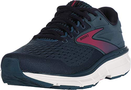 Brooks Womens Dyad 11 Running Shoe - Blue/Navy/Beetroot - B - 9