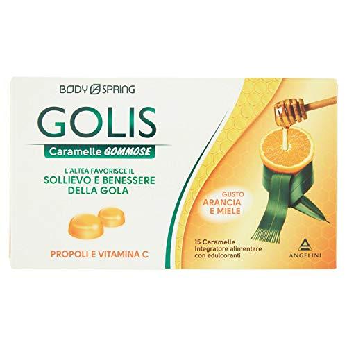 Angelini 55664 Body Spring Golis Caramelle Gommose, Arancia e Miele