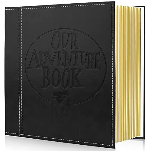 Sun studio Magnetic Self-Stick Page Fotoalbum, unser Abenteuerbuch Lederbezug DIY-Alben für Hochzeitstag hält 3X5, 4X6, 6X8, 8X10 Fotos