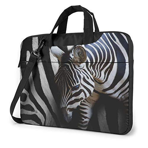 Laptop Messenger Laptop Bag Zebra Animal Save Camo Shoulder Bag Briefcase Office Laptop Sleeve Case Satchel Tablet for Men Women