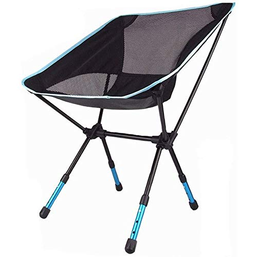 LLZ ZPHHSHI Camping Backpack Chairs, Lightweight, Compact, Collapsible, Camping Rocking Chair for Camp, Picnic (Color : Blue)