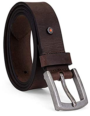 Timberland PRO Men's Big and Tall 40mm Workwear Leather Belt, Brown/Rivet, 46