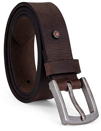 Timberland PRO Men's 40mm Workwear Leather Belt, Brown/Rivet, 40