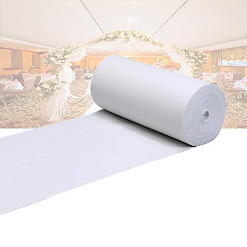 GR5AS Hochzeitsteppich, Läufer für Hochzeit, Gänge, Weiß, Einweg-Teppich, Hochzeit, Kirche, Aktivität, spezieller Teppich, Vakuumierer, verschleißfester Eventteppich, Polyester, a, 1.2x10m