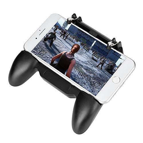 Fournyaa Joystick para Juegos móviles, Gamepad con Ventilador de refrigeración Extensible de súper compatibilidad, Gamepad para teléfono móvil, Negro Duradero para iOS Android