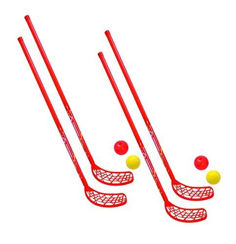Schildkröt Fun-Hockey Set, 2 Hockey Schläger, 2 Bälle Ø70mm (2 Fun-Hockey Sets)