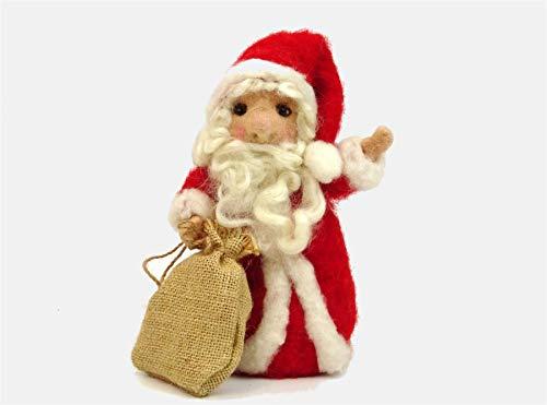 The Makerss - Kit de fieltro de aguja para Papá Noel, fabricado en el Reino Unido