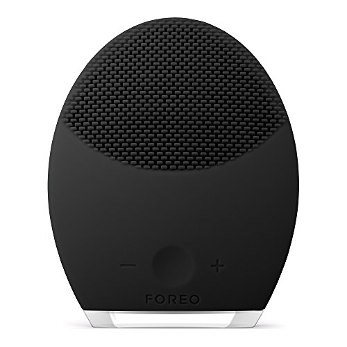 FOREO LUNA 2 for MEN Face Brush and Anti-Aging Device for Deep Cleansing and Pre-Shave Routine, Black