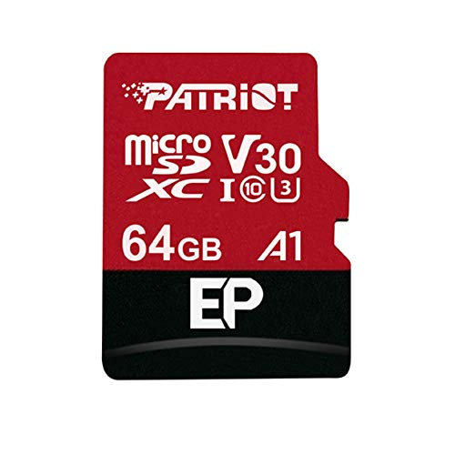 Patriot Memory PEF64GEP31MCX 64GB EP A1per Micro SD Card SDXC per telefoni e Tablet Android 4K Video Recording