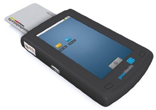 germantelematics GT90 mobil/mobiles eGK Kartenlesegerät mit Touchscreen (Lesegerät für die elektronische Gesundheitskarte von German Telematics)