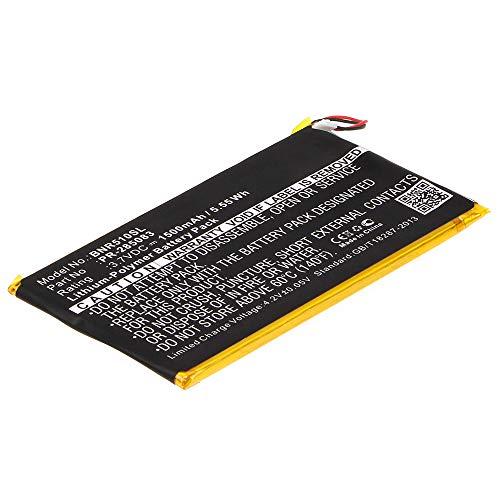 subtel Batería Recargable Compatible con Kobo GLO HD, Barnes & Noble BNRV510 1500mAh PR-285083 Repuesto Pila sustitución Bateria