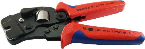 Knipex 97 53 09 SB Selbsteinst. Crimpzange f.Aderendhülsen Länge: 260 mm, Blau, Rot, Silber