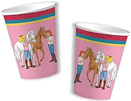 Bibi & Tina 8 Becher Kinderparty und Kindergeburtstag von DH-Konzept // Blocksberg Pappbecher Partybecher Cups Party Set