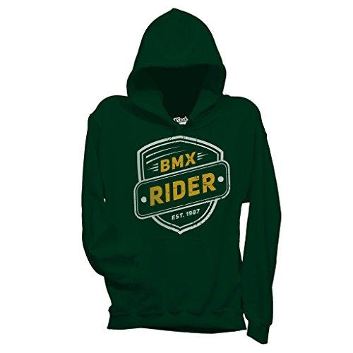 MUSH Felpa BMX Rider Bike Lovers by Dress Your Style - Bambino-S-Verde Bottiglia
