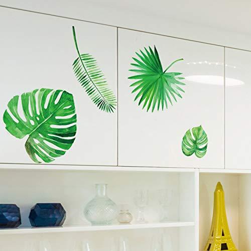 MMLFY Muursticker groene plant laat muurstickers verse moderne slaapkamer woonkamer keuken kast stickers pvc groene woonhuis decoratie
