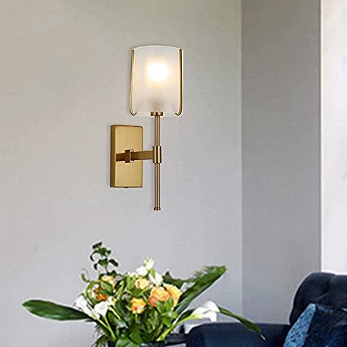 BUSUANZI Oro Postal Moderno de Hierro Lámpara de Pared de Vidrio Creativo Lámpara de Noche Nórdica Personalidad Simple LED LED Sala de Estar Pasillo Lámpara de Pared 12 37 (cm)
