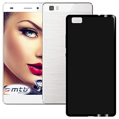 mtb more energy® Hülle Grip für Huawei P8 Lite (ALE-L21. / BJ 2015/5.0'') - Schwarz (matt) - flexibel - TPU Hülle Schutzhülle Tasche