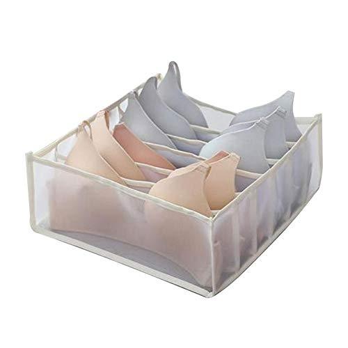SPFOZ Haus Dekoration Große Wabenkompartieraufbewahrungstasche Aufbewahrungsbox Closet Schubladenorganisatoren sauber und hygienisch leicht abholen (Color : 09 Large Beige)