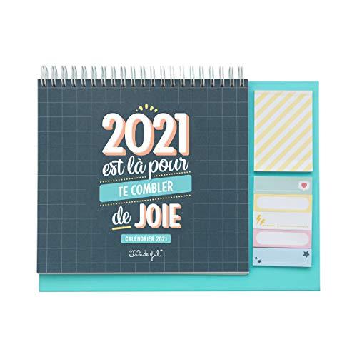 Mr. Wonderful Calendrier de Bureau - 2021 est là pour te combler de joie