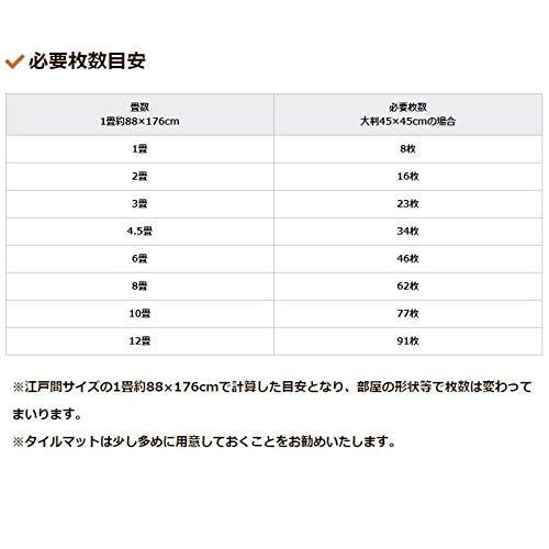 帝塚山ハウンドカム『おくだけ消臭吸着カーペット45大判12枚入り』