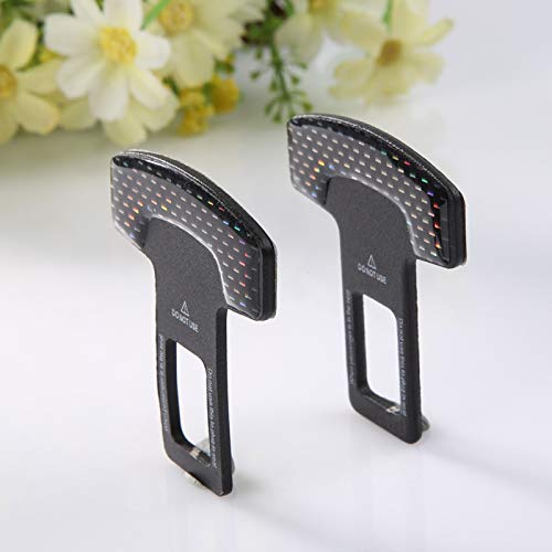 2 pezzi fibbie per cinture di sicurezza in vera fibra di carbonio per seggiolino auto allarme cancellatore stopper