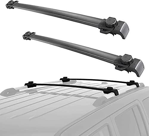 2 Piezas Coche Aluminio Bacas Travesaño para Jeep Patriot 2007-2020, Robustos portaequipajes...