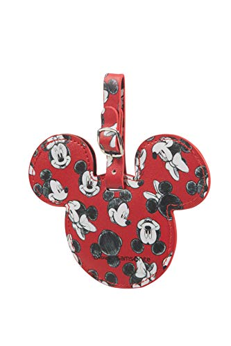 Samsonite Global Ta Disney Etiqueta de Equipaje, 13.5 cm, Rojo (Mickey/Minnie Red)