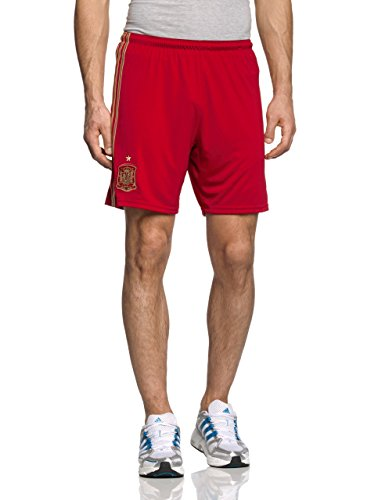 adidas Herren Shorts Heim Spanien, Victory Red/Light Football Gold/Craft, XL