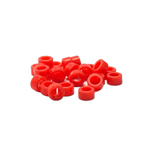 Easyinsmile Multi-Color Small Type Dental Silicone Instrument Color Code Rings (L, Red)